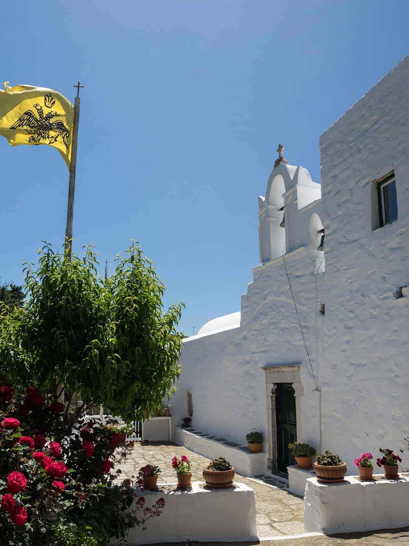 agios georgios valsamitis outside monastery amorgos