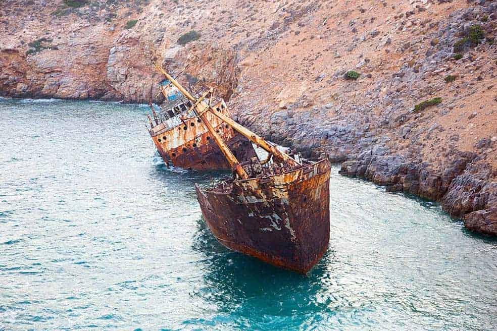 ναυάγιο ολυμπια_Αμοργος
